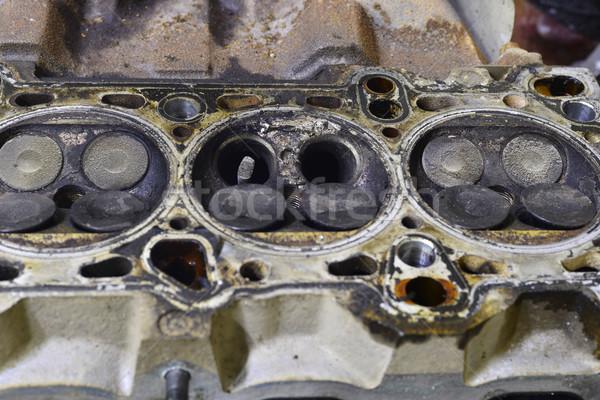 öreg gép fej régi autó dolgozik szín Stock fotó © Phantom1311