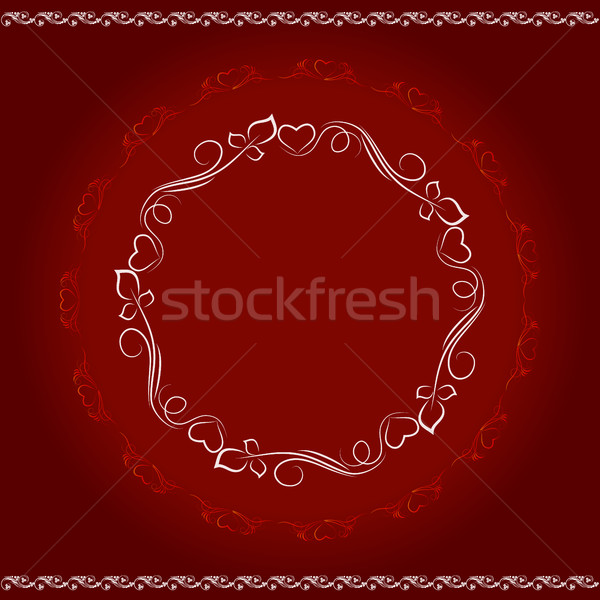 Díszítő terv elemek minta kör kreativitás Stock fotó © Phantom1311