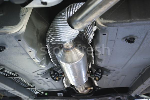 Araçlar egzoz sığ sanayi makine çelik Stok fotoğraf © Phantom1311
