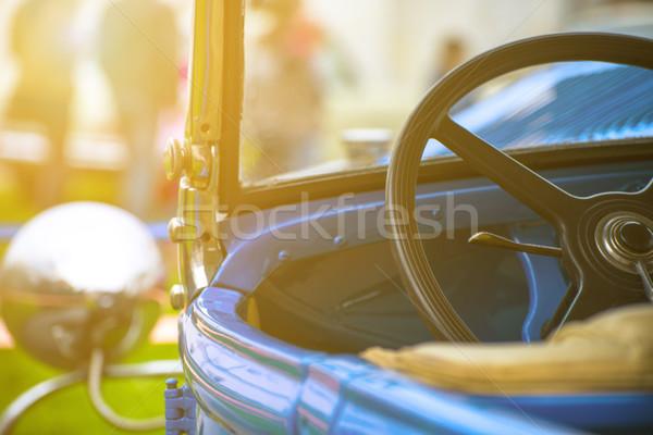 Kerék régi autó sekély mező naplemente üzlet Stock fotó © Phantom1311