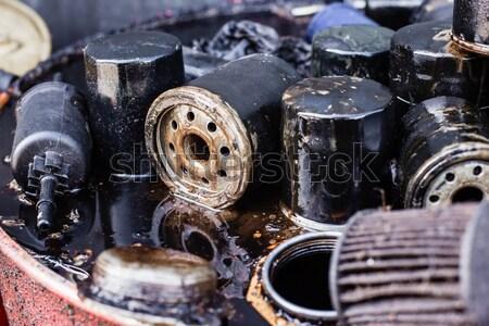 Photo stock: Utilisé · voiture · moteur · pétrolières · sale · noir