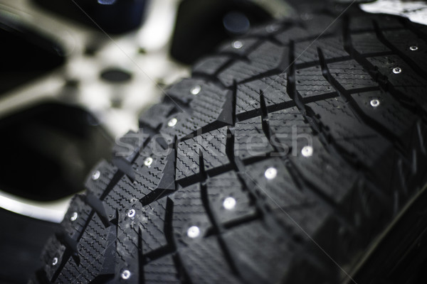 Car tire with shallow depth of field Stock photo © Phantom1311