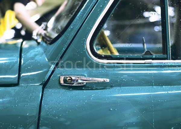 Autó ajtó sekély mező antik nyitás Stock fotó © Phantom1311