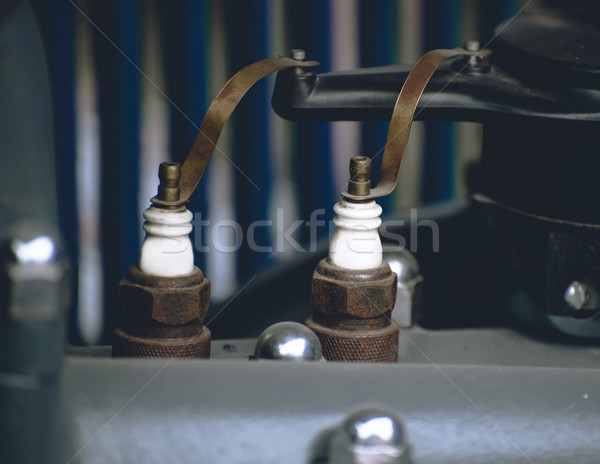 Spark plugs old car engine Stock photo © Phantom1311