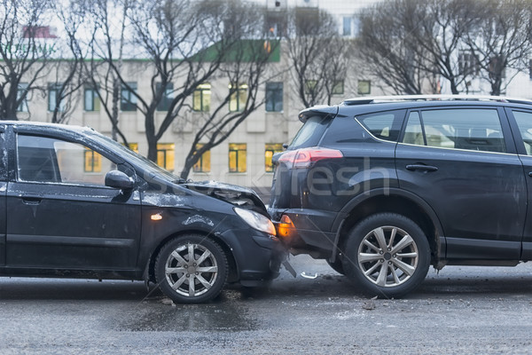 Car accident on the city road Stock photo © Phantom1311