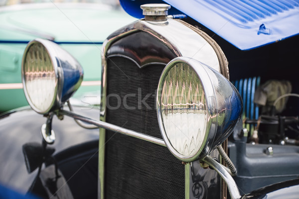 Headlights of an old car with a shallow depth of field Stock photo © Phantom1311