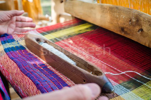 Fából készült öreg minta Ázsia emberi textil Stock fotó © Phantom1311