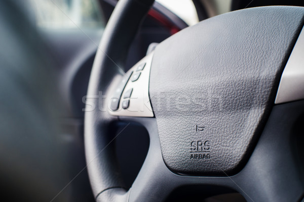 Car Steering Wheel with shallow depth of field Stock photo © Phantom1311