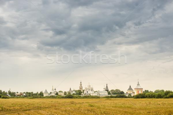 修道院 ロシア 曇った 夏 日 草 ストックフォト © Phantom1311