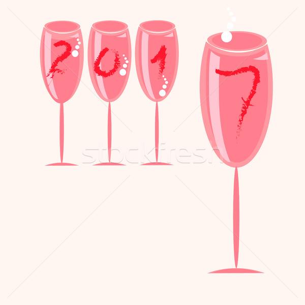 ワイングラス 泡 食品 レストラン ストックフォト © Phantom1311