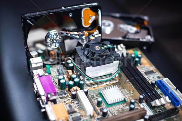 Tábla részletek sekély technológia keret anya Stock fotó © Phantom1311