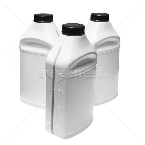 Stock fotó: Fehér · műanyag · tároló · sekély · mező · csoport · ipar
