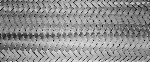 weaving of metallic threads Stock photo © Phantom1311
