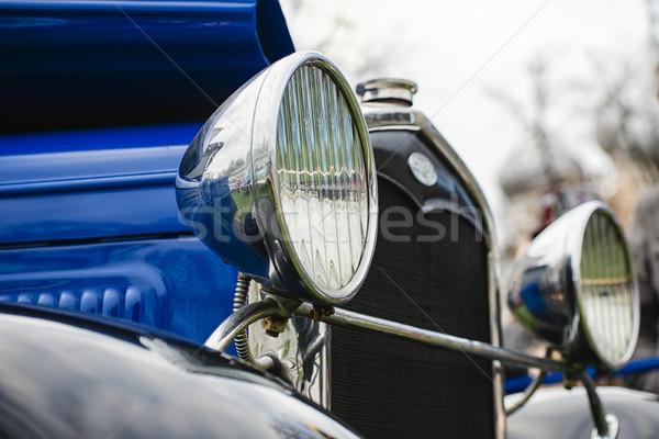 Farlar eski araba sığ alan vücut Retro Stok fotoğraf © Phantom1311