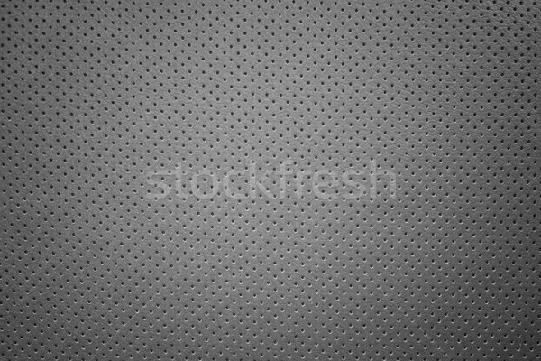 Cuir rectangulaire noir perforation fond industrie Photo stock © Phantom1311