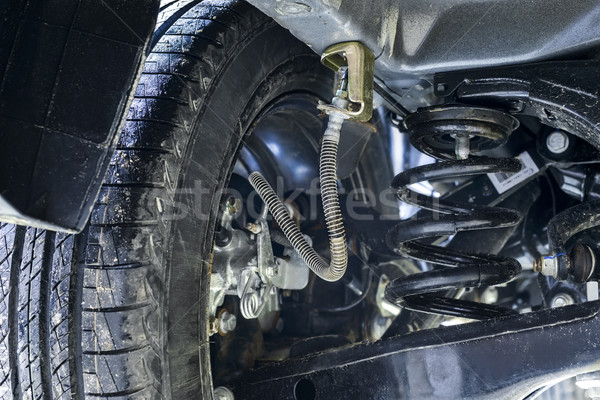 Stock photo: Suspension of a new car