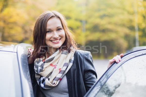 улыбаясь открытых автомобилей двери стороны Сток-фото © Phantom1311