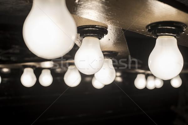 ランプ 木製 浅い 建設 壁 ストックフォト © Phantom1311