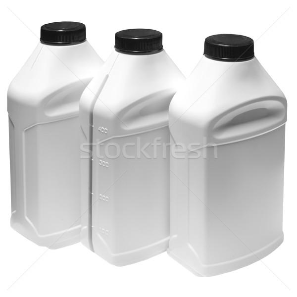 Fehér műanyag tároló sekély mező csoport ipar Stock fotó © Phantom1311