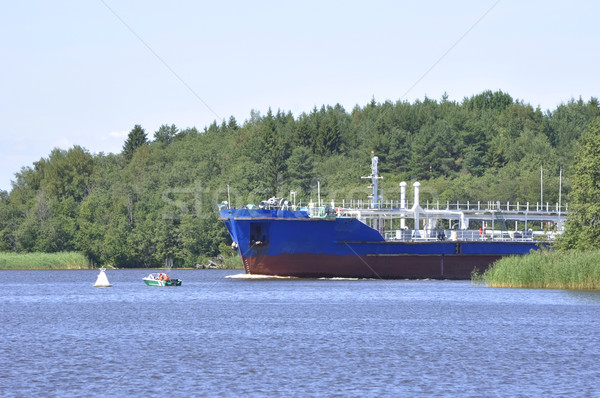 Hajó lebeg víz csónak út ipar Stock fotó © Phantom1311