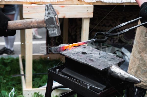Fém termékek üllő sekély tűz ipar Stock fotó © Phantom1311