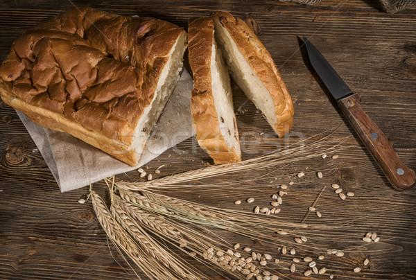 Blanche oreilles blé étroite alimentaire Photo stock © Phantom1311