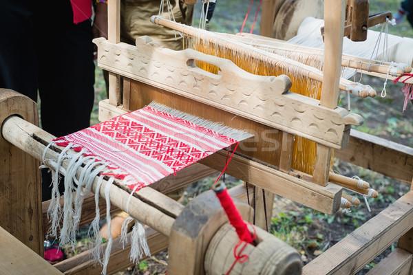 Stock fotó: Szövet · darab · ruha · kicsi · mező · minta
