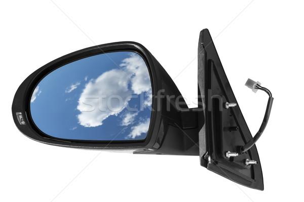 автомобилей зеркало белый небе путешествия скорости Сток-фото © Phantom1311