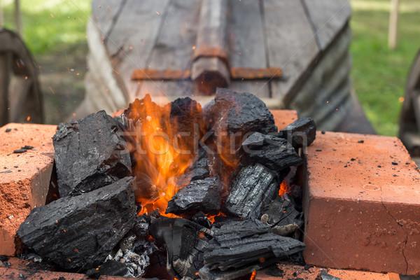 coals to heat the iron Stock photo © Phantom1311