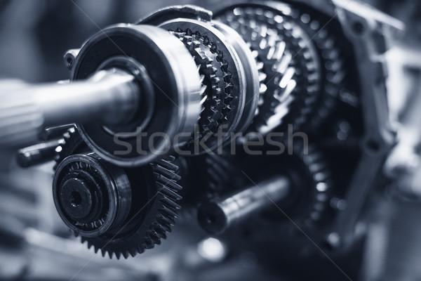 Sekély mező sebességváltó autó fém csoport Stock fotó © Phantom1311