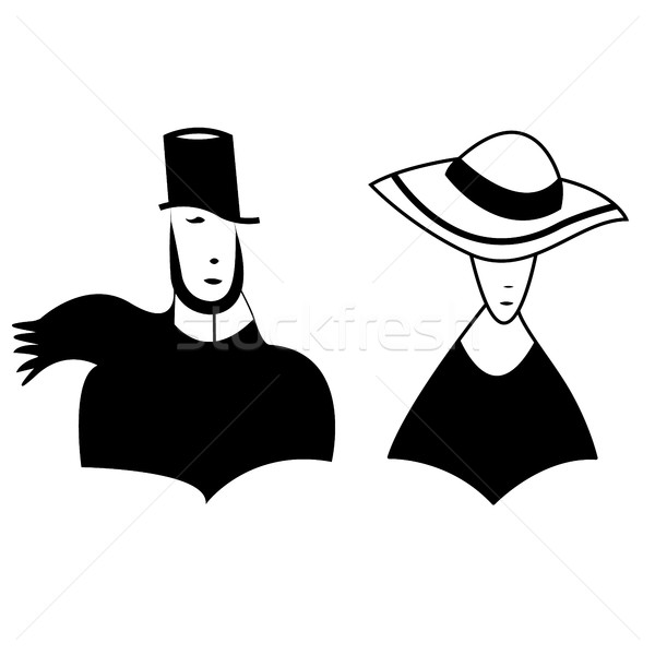symbolic image of man and woman Stock photo © Phantom1311