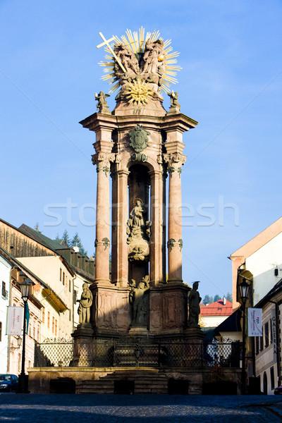Barocco colonna santo piazza casa arte Foto d'archivio © phbcz