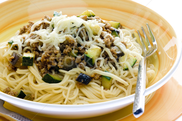 mixture of minced meat, zucchini and egg-plan Stock photo © phbcz