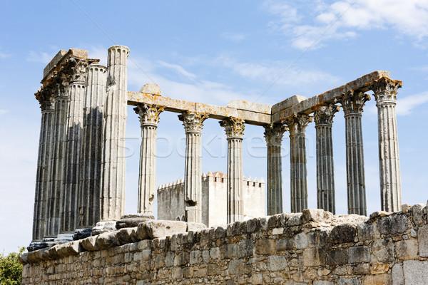 Romano templo Portugal edifício arquitetura história Foto stock © phbcz