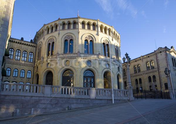 議会 オスロ ノルウェー 建物 旅行 アーキテクチャ ストックフォト © phbcz