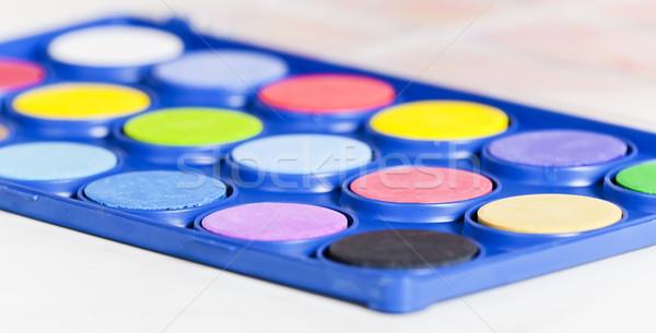 couleur pour aquarelle palette peinture art peinture objet photo stock richard. Black Bedroom Furniture Sets. Home Design Ideas