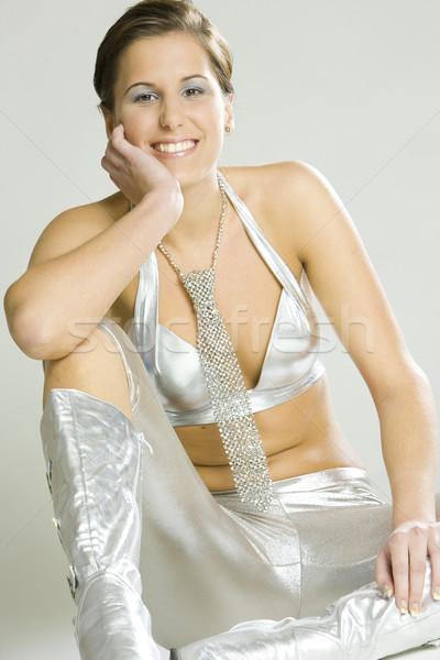 Retrato sesión mujer jóvenes zapato Foto stock © phbcz