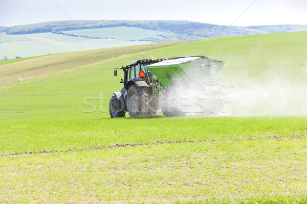 tractor on field, Czech Republic Stock photo © phbcz
