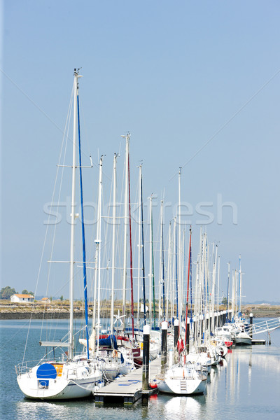 Jachthaven Portugal boot schip Europa buitenshuis Stockfoto © phbcz