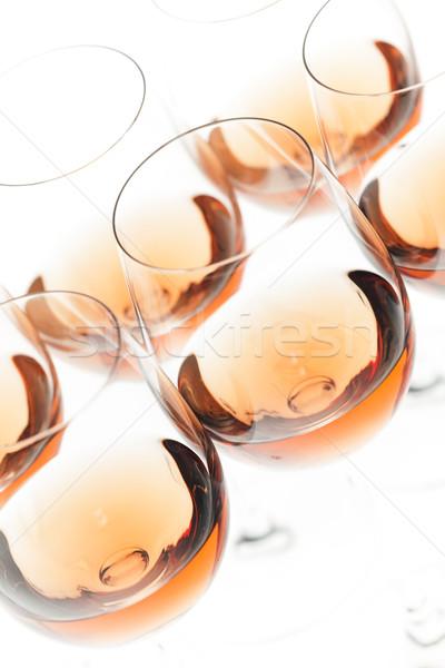 Бокалы закрывается вино алкоголя рюмку объект Сток-фото © phbcz