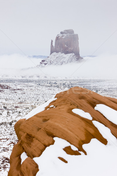 The Mitten, Monument Valley National Park in winter, Utah, Arizo Stock photo © phbcz