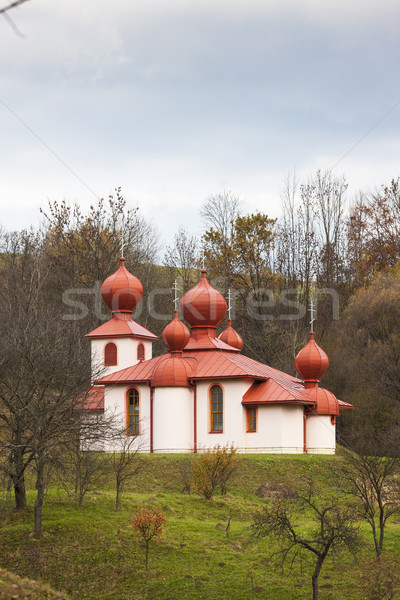 Stock photo: orthodox church, in Hrabova Roztoka, Slovakia