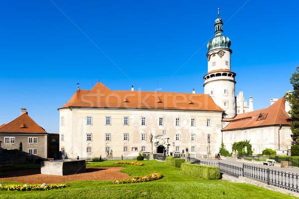 Castle of Nove Mesto nad Metuji with garden, Czech Republic Stock photo © phbcz