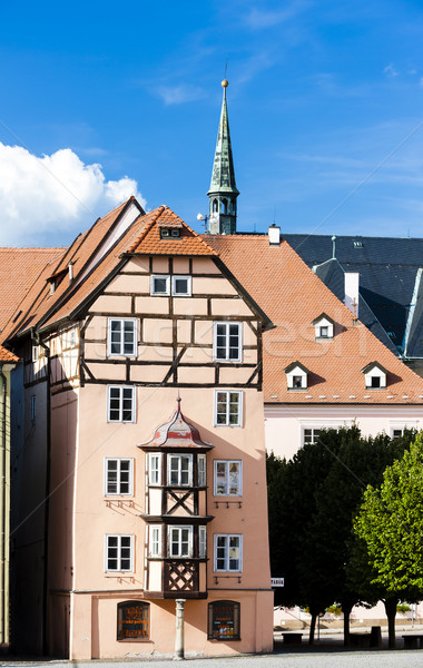 complex of medieval houses called Spalicek, Cheb, Czech Republic Stock photo © phbcz