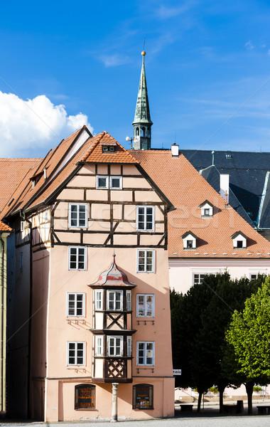 Komplex mittelalterlichen Häuser Tschechische Republik Haus Gebäude Stock foto © phbcz