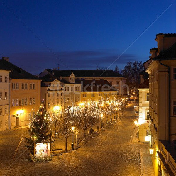 Kampa at night, Prague, Czech Republic Stock photo © phbcz