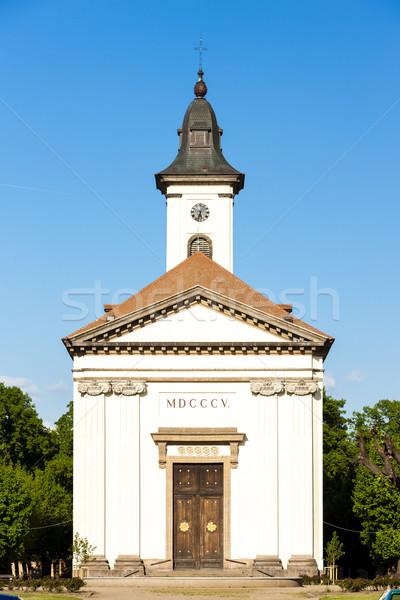 Csehország épület építészet Európa történelem város Stock fotó © phbcz