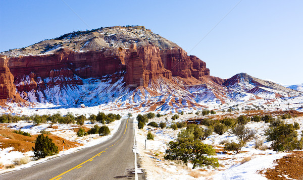 Capitol Reef National Park in winter, Utah, USA Stock photo © phbcz