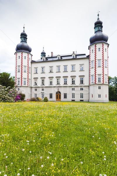 Palácio República Checa viajar castelo arquitetura ao ar livre Foto stock © phbcz