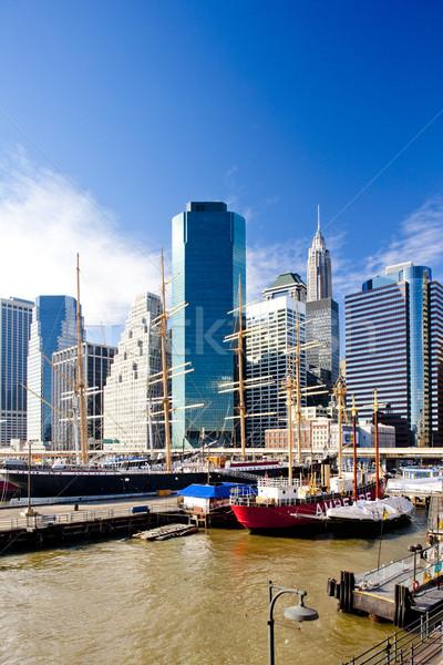 Pier 17, Manhattan, New York City, USA Stock photo © phbcz